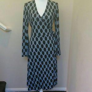 Excellent Condition Jones New York Wrap Dress Sz M